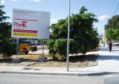 Obres del F. E. I. L. Plaça Mas Pla de Palau-Solità i Plegamans
