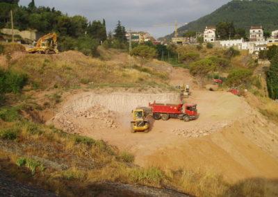 Excavació en terreny rocós
