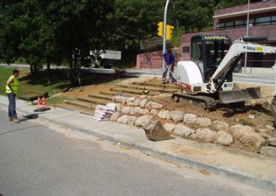 Treballs de manteniment de vials a Palau-Solità i Plegamans